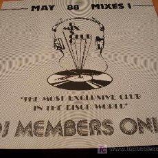 Disques de vinyle: MAY 88 MIXES 1 ( NEW ORDER - ODYSSEY - PET SHOP BOYS... ) LP UK ( VIN). Lote 15988238