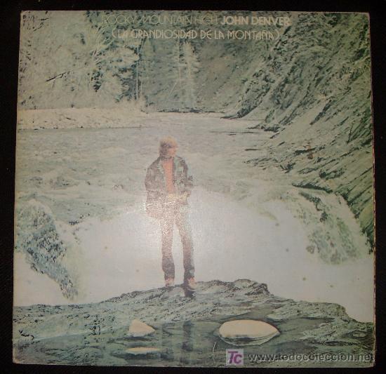 LP DE JOHN DENVER. ROCKY MOUNTAIN HIGH. LA GRANDIOSIDAD DE LA MONTAÑA. (Música - Discos - LP Vinilo - Country y Folk)