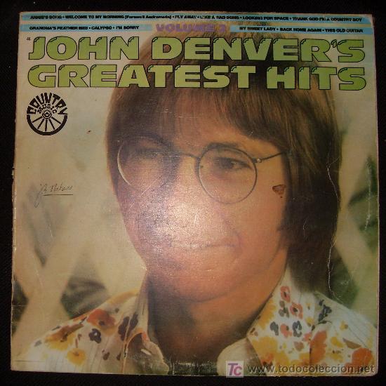 LP DE JOHN DENVER. GREATEST HITS. (Música - Discos - LP Vinilo - Country y Folk)