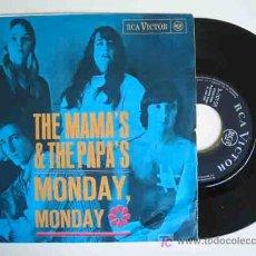 Discos de vinilo: THE MAMA'S & THE PAPA'S : MONDAY, MONDAY; CALIFORNIA DREAMIN. 1966. RCA 3 10155. Lote 15991287