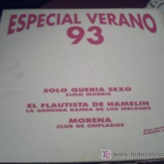 Discos de vinilo: ESPECIAL VERANO 93/PROMO/MAXI 45RPM/NOV ZIMM MORRIS-CLUB DE CHIFLADOS- PEPETO. Lote 233515530
