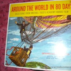 Discos de vinilo: AROUND THE WORLD IN 80 DAYS..LP HUGO DEVRIES SELECTION FROM MICHAEL TODDS 1958 USA. Lote 16006185
