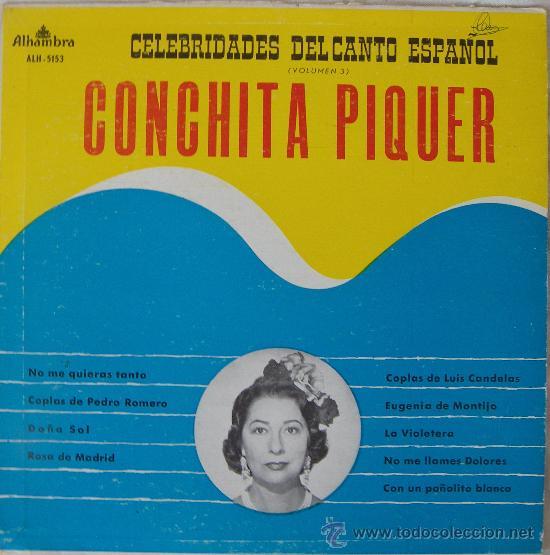 CONCHITA PIQUER - LP - EDITADO EN VENEZUELA (Música - Discos - LP Vinilo - Flamenco, Canción española y Cuplé)