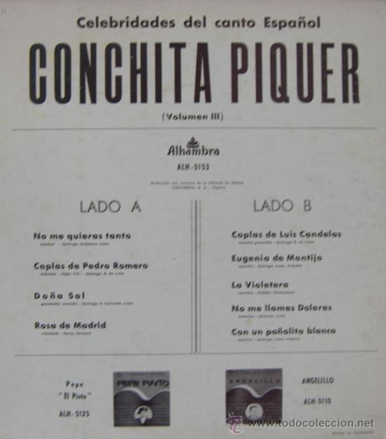 Discos de vinilo: CONCHITA PIQUER - LP - editado en Venezuela - Foto 2 - 24246562
