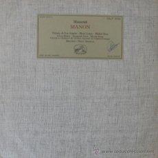 Discos de vinilo: MANON - MASSENET (VICTORIA DE LOS ÁNGELES) EDITADO EN FRANCIA. Lote 27618950