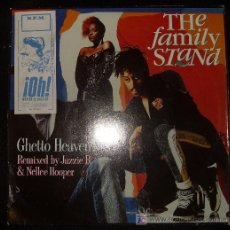Discos de vinilo: LP DE THE FAMILY STAND. GHETTO HEAVEN. REMIXED BY JAZZIE B. & NELLE HOOPER.. Lote 16047083
