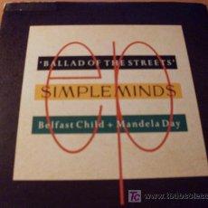 Discos de vinilo: SIMPLE MINDS ( BALLAD OF THE STREETS ) 45 RPM (EX / EX) SCOTLAND. Lote 16066303