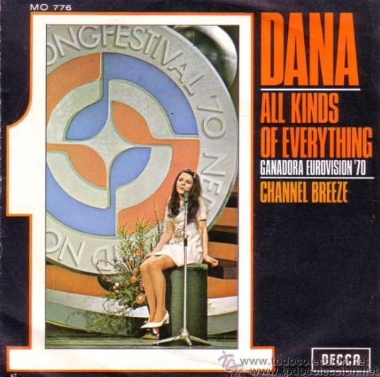 DANA - ALL KINDS OF EVERYTHING - EUROVISIÓN 1970 (Música - Discos - Singles Vinilo - Festival de Eurovisión)