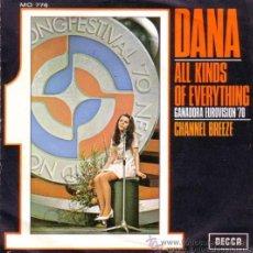 Discos de vinilo: DANA - ALL KINDS OF EVERYTHING - EUROVISIÓN 1970. Lote 26314399