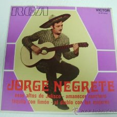 Discos de vinilo: JORGE NEGRETE - (RCA-1.970). Lote 23060125