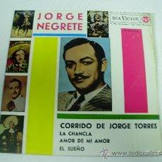 Discos de vinilo: JORGE NEGRETE - CORRIDO DE JORGE TORRES - RCA VICTOR -1.962. Lote 23060127