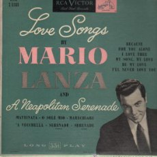 Discos de vinilo: MARIO LANZA - LOVE SONGS BY MARIO LANZA AND A NEAPOLITAN SERENADE - LP. Lote 16087175