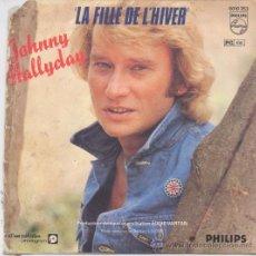 Discos de vinilo: JOHNNY HALLYDAY,LA FILLE DE L ´HIVER DEL 80 EDICION FRANCESA. Lote 16098446