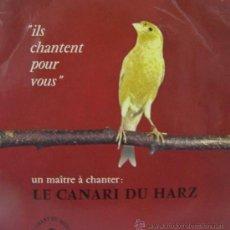 Discos de vinilo: LE CANARI DU HARZ - LE CHANT DU MONDE. Lote 27176843