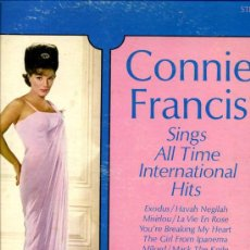 Discos de vinilo: CONNIE FRANCIS -LP,MADE IN USA MGM- SINGS ALL TIME INTERNATIONAL HITS- EXODO,LA NOVIA,CUANDO CALIENT. Lote 26097814