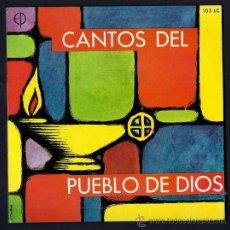 Discos de vinilo: CANTOS DEL PUEBLO DE DIOS - COROS DEL SEMINARIO DE MADRID - EDICIONES PAULINAS 1968 - 33 RPM. Lote 16125809