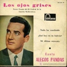 Discos de vinilo: ALECOS PANDAS - LOS OJOS GRISES / NADA HA CAMBIADO / ¿QUÉ HAY EN TU BALCÓN? - EP. Lote 16200768
