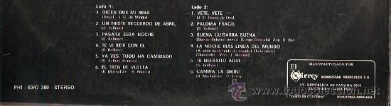 Discos de vinilo: BLUE CAPS LP SELLO PHILIPS EDITADO EN PERU - Foto 2 - 16203948