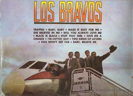 LOS BRAVOS LP SELLO COLUMBIA EDITADO EN PERU (Música - Discos - LP Vinilo - Grupos Españoles 50 y 60)