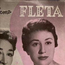 Discos de vinilo: ELIA Y PALOMA FLETA (HERMANAS FLETA) LP SELLO MONTILLA ZAFIRO AÑO 1958. Lote 16220011