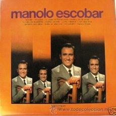 Discos de vinilo: MANOLO ESCOBAR - SELECCION - MI CARRO -. Lote 27471132