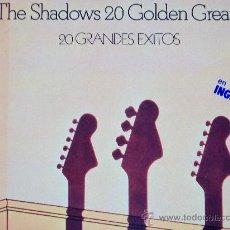 Discos de vinilo: THE SHADOWS,20 GOLDEN GREATS DEL 77 DOBLE LP. Lote 16230429