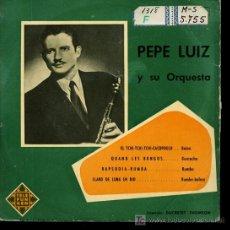 Discos de vinilo: PEPE LUIZ - EL TCHI-TCHI-TCHI-CACOPOULO / QUAND LES BONGOS / RAPSODIA-RUMBA - EP 195?. Lote 16314917