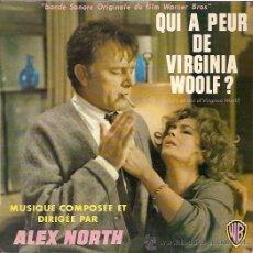 Discos de vinilo: DEL FILM QUIEN TEME A VIRGINIA WOOLF? EP SELLO W B EDITADO EN FRANCIA. . Lote 16253693