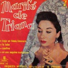 Discos de vinilo: MARIFE DE TRIANA - EP, 1959. Lote 132064287