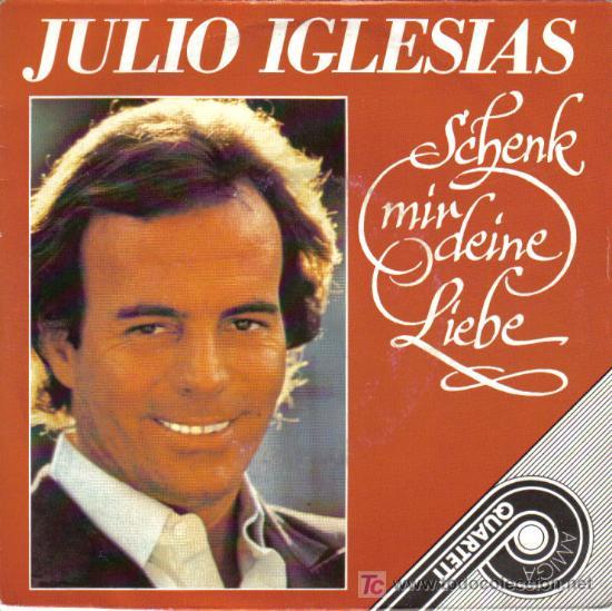 JULIO IGLESIAS - EP VINILO - 4 TRACKS - CANTA EN ALEMAN - EDITADO EN ANTIGUA ALEMANIA DEL ESTE (DDR) (Música - Discos de Vinilo - EPs - Solistas Españoles de los 70 a la actualidad)