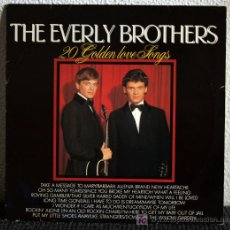 Discos de vinilo: THE EVERLY BROTHERS - 20 GOLDEN LOVE SONGS - LP. Lote 27112681