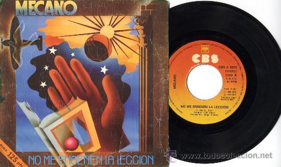 MECANO NO ME ENSEÑEN LA LECCIÓN POP MOVIDA OCHENTAS SPAIN (Música - Discos - Singles Vinilo - Grupos Españoles de los 70 y 80)