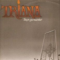 Discos de vinilo: LP TRIANA - TENGO QUE MARCHAR - TEMAS INEDITOS EN ESPAÑOL E INGLES. Lote 27488307