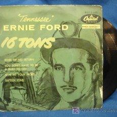Discos de vinilo: - ERNIE FORD - 16 TONELADAS + 3 - CAPITOL 1957 - EAP 1-693. Lote 20572570