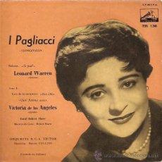 Discos de vinilo: VICTORIA DE LOS ANGELES EP SELLO LA VOZ DE SU AMO AÑO 1958. Lote 16426713