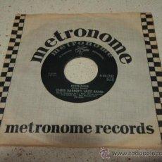Discos de vinilo: CHRIS BARBER'S JAZZ BAND ( PETITE FLEUR - WILD CAT BLUES ) SWEDEN SINGLE45 METRNOME RECORDS. Lote 16429886