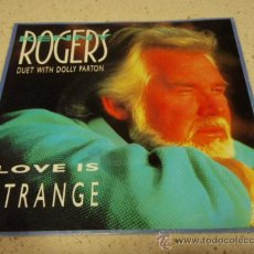 Discos de vinilo: KENNY ROGERS DUET WITH DOLLY PARTON ( LOVE IS STRANGE - WALK AWAY ) USA-1990 SINGLE45 REPRISE. Lote 16430480