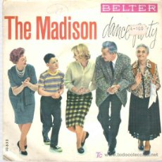 Discos de vinilo: THE TUNETOPPERS - THE MADISON DANCE PARTY *** EP BELTER 1962. Lote 16439770