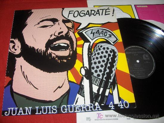 JUAN LUIS GUERRA 4 40 FOGARATÉ! LP 1994 VINILO! RARO (Música - Discos - LP Vinilo - Étnicas y Músicas del Mundo)