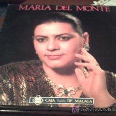 Disques de vinyle: MARIA DEL MONTE/ CAJA DE MALAGA/LP/CANTAME,LE MENTI,AGUA PASADA,DESDE CHIQUITITA../ PEPETO. Lote 16487431