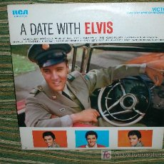 Discos de vinilo: ELVIS PRESLEY-A DATE WITH ELVIS LP -U.S.A.-RCA VICTOR 1965 REPROCESSED FROM MONOPHONIC. Lote 26369776