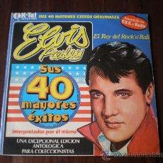 Discos de vinilo: ELVIS PRESLEY - SUS 40 MAYORES EXITOS - (ESPAÑ-K-TEL1977) EDICION COLECCIONISTAS - ROCK & ROLL 2LP'S. Lote 24617754
