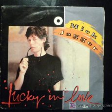 Discos de vinilo: SINGLE MICK JAGGER - LUCKY IN LOVE / RUNNING OUT THE LUCK - CBS 1985 - MADE IN HOLLAND. Lote 19570564
