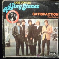 Discos de vinilo: ROLLING STONES - SATISFACTION / THE SPIDER AND THE FLY - DECCA 1965 - MADE IN FRANCE. Lote 18967599