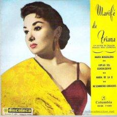 Discos de vinilo: MARIFE DE TRIANA - MARIA MAGDALENA *** EP 1961. Lote 16534952