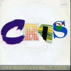 Discos de vinilo: CRIS - UNA MORENA ES MEJOR, AMOR / POEMAS QUE NO VERÁS - SINGLE 1988 - PROMO. Lote 16588304