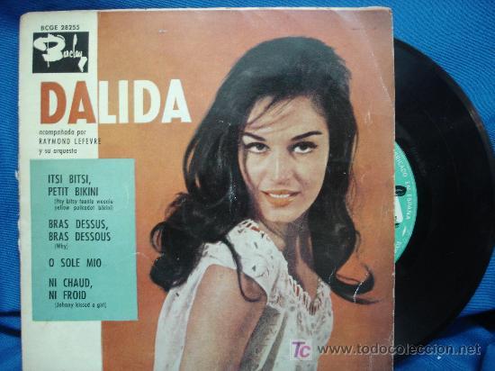 - DALIDA - ITSI, PETIT BIKINI+3 - BARCLAY ESPAÑA BCGE 28.255 AÑO 1960 (Música - Discos de Vinilo - EPs - Pop - Rock Internacional de los 50 y 60)