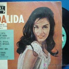 Discos de vinilo: - DALIDA - ITSI, PETIT BIKINI+3 - BARCLAY ESPAÑA BCGE 28.255 AÑO 1960. Lote 16662818
