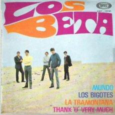 Discos de vinilo: LOS BETA - LA TRAMONTANA *** EP 1968 SPANISH FREAKBEAT **. Lote 18956641