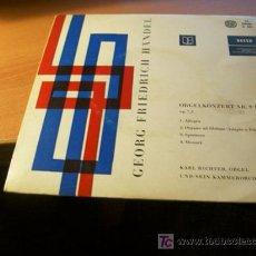 Discos de vinilo: HANDEL ( ORGELKONZERT NR 9 B-DUR OP 7,3) EP 45 RPM ALEMANIA 1961. Lote 16596762